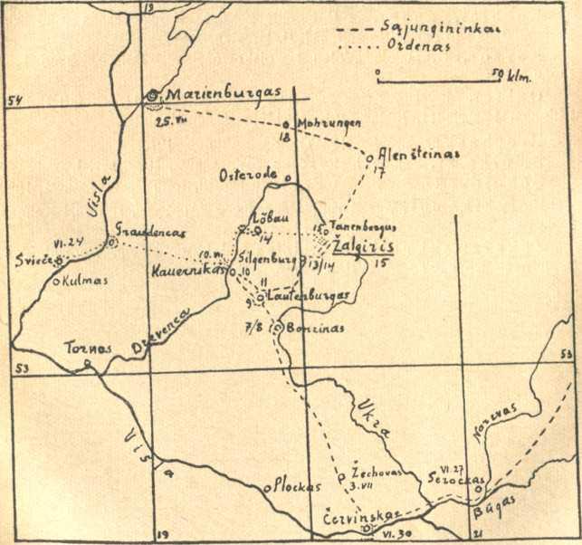 Karta Balkana 1878.Vytautas Didysis